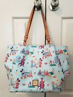 Disney Dooney & Bourke Epcot Flower Garden Figment Mickey Donald tote bag purse