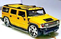 JADA Toys Dub City Kustoms 2003 Hummer H2 Pearl Yellow 1/24 Scale Diecast