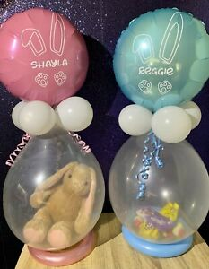 Personalised Easter Balloon POP ME Easter Stuffed Balloon DO IT YOURSELF KIT