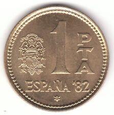 España 1980 (81) Peseta Aluminio moneda de bronce España Copa del Mundo FIFA 82