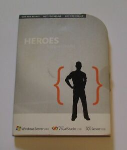 Microsoft Heroes happen {here} kit (WS, SQL, VS 2008) +. Very rare. Collectible
