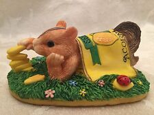 Charming Tails Chipmunk Figure Figurine By Silvestri Stacking Up Acorn Seeds