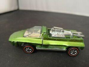 T271-RARE 1969 HOT WHEELS REDLINE HAIRY HAULER.SPECTRAFLAME GREEN.USA