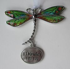 ddd Let miracles find you DELIGHTFUL DRAGONFLY ORNAMENT CAR CHARM Ganz