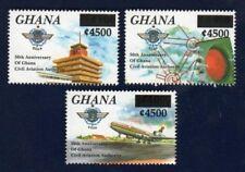 Ghana - Icao Aviation Revalued Ovpt Stamp Set of 2 - MNH