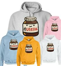 NUTELLA  PRINT TRENDY MEN AND WOMEN FASHIONABLE HOODIES 7 COLORS 5 SIZE