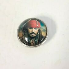 Johnny Depp as Jack Sparrow-Fits ChunkGingerNoosa snap bracelets. Ships Free