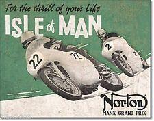 Norton Manx Blechschild Stabil Flach Neu aus GB 30x40cm mit Bset