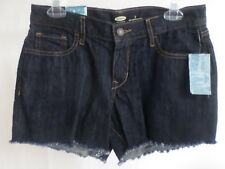 Shorts Women's OLD NAVY-SAN FRAN Low Rise Dark Denim Fringe Jean  Size 2 NWT