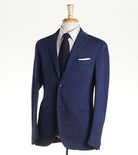 NWT $1530 BOGLIOLI Navy Blue Patterned Cotton Suit Classic-Fit 36 R (Eu 46)