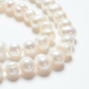 Strand natural pearls beads cultured freshwater potato shape 7-8mm IVORY