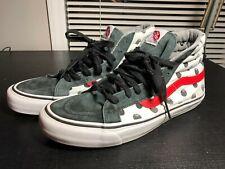 VANS Sk8 Hi LX Stussy Shoes Black 8 Ball Polka Dot Red Black White Size 10 RARE