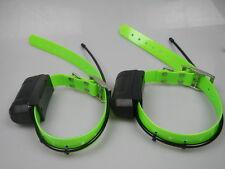 2*Garmin DC40 GPS dog Tracking Collar for Astro220/320 USA ver new Green straps