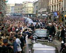 President John F. Kennedy's motorcade through Cork Ireland 1963 New 8x10 Photo