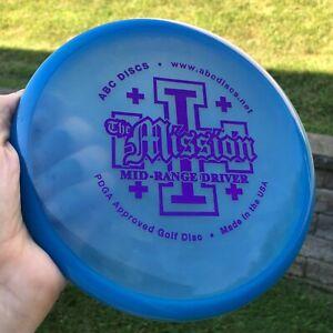 Blue ABC Discs Mission Midrange Disc - Purple Stamp - Platinum Plastic (175g)