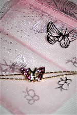 Butterfly bracelet Austrian crystals with flower accents SALE!