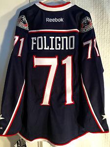 Reebok Premier NHL Jersey Columbus Blue Jackets Nick Foligno Navy sz L