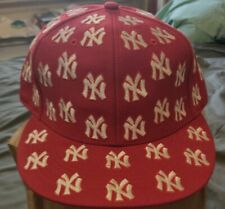 New York Yankees 1910 Cooperstown Collection- logo all over/ Red -7 & 3/8 fitted