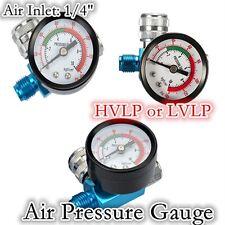 "1/4"" HVLP or LVLP Spray Paint Gun Regulator Air Pressure Gauge 0-140PSI/10Bar"