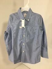 GAP KIDS BOYS POPLIN LONG SLEEVE DRESS SHIRT SKY  BLUE XS (4-5) NWT $30