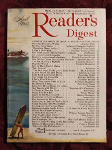 Readers Digest April 1953 Jackie Robinson W J Lederer Bruce Hutchison