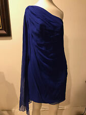 GORGEOUS MARCHESA NOTTE Blue Dress ,Sz 4, One shoulder!!  BB