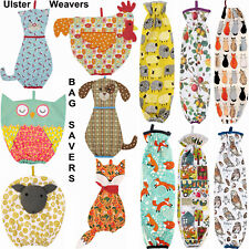 Plastic Carrier Cotton Bag Saver Ulster Weavers Animal Floral Kitchen Storage