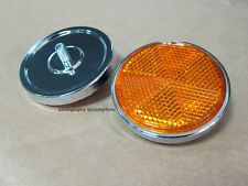 2X Honda XL250 SL100K SL125K XL100 Headlight case stay reflectors 59mm