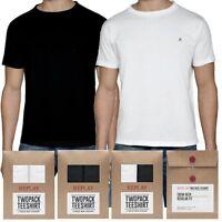 2 pack t-shirt maglietta uomo REPLAY bianco nero cotone manica corta S M L XL 2X