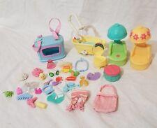 LPS Littlest Pet Shop bath tubs, soap, shower cap Hair Drier Bubbles Rollers SEE