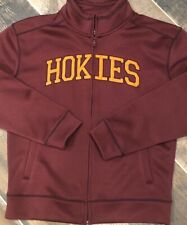 official photos eac68 090ba CAMPUS DRIVE Mens Fleece Lined Full Zip Track Jacket Virginia Tech Hokies  Small