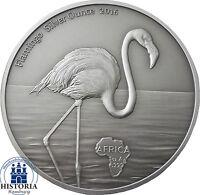Flamingo Silver Ounce Afrika Serie 2016 Ghana 5 Cedis Antique Finish Silbermünze