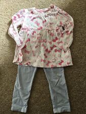 Girls Pink And Lilac Top And Leggings Set Age 18-24 Months