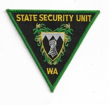 OBSOLETE WESTERN AUSTRALIA STATE SECURITY UNIT PATCH POLICE