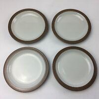Set of 4 Denby Greystone 16cm Tea / Side Plates, Stoneware, Cake, Salad, Bread