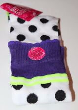 Sock & Sole! Knee High Polka Dots Holiday Christmas Stocking Stuffer Sz 9-11