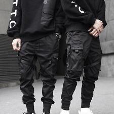 Calça Cargo Preto Masculino Casual Hip Hop Harem calças Lápis Longa Calça de Moletom