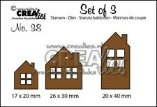 Stanzschablonen Prägeschablonen Häuser Houses Weihnachten Xmas CREAlies CLSET38