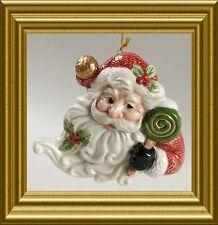 NIB FITZ AND FLOYD SUGAR PLUM (SANTA) HEIRLOOM CHRISTMAS COLLECTIBLES ORNAMENT