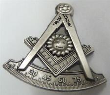 PAST MASTER Masonic Square Compass Tools Lapel Tie Tack Hat Jacket Vest Pin