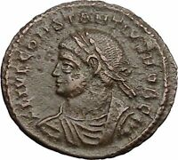 CONSTANTIUS II Constantine the Great son Ancient Roman Coin Camp Gate i30963
