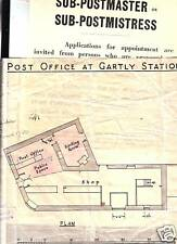 1947/59  SUB PO APPLICATION & PO PLAN AT GARTLY STATION