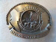 IOWA CATTLEMEN Cow Belles Belt Buckle National Beef Cook-off 1987 Limited Ed