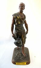 "Orientalist Bronze statue signed Debut - 12 1/2"" height (#352)"