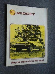MG MIDGET ORIGINAL REPAIR OPERATION (WORKSHOP) MANUAL 1500cc 1975- ON  AKM 3327