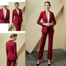 Women's Tuxedo Ladies' Trousers Red Work Business Formal 2 Pieces Office Tailor