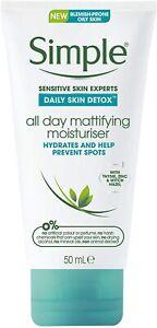 1x Simple All Day Mattifying Moisturiser (50ml) Brand New