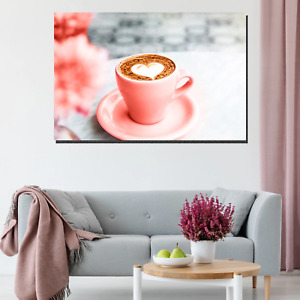 Coffee Romance Cafe and Coffee Canvas Art Print for Wall Decor