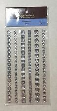 Recollections Rhinestones Clear Circle Square Heart Gems