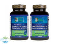 2 x Blue Ice™ Royal Blend - 120 Capsules | Green Pasture | Cod Liver/Butter Gel
